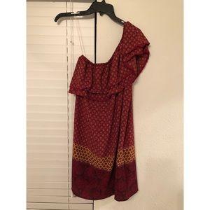 Off Shoulder Mid Length Dress